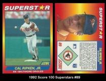 1992 Score 100 Superstars #89