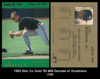 1992 Star Co Gold '92 #69 Decade of Greatness