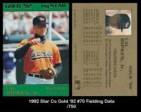 1992 Star Co Gold '92 #70 Fielding Data