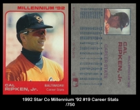 1992 Star Co Millennium '92 #19 Career Stats