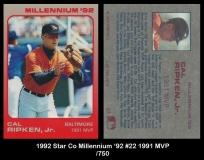1992 Star Co Millennium '92 #22 1991 MVP