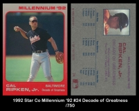1992 Star Co Millennium '92 #24 Decade of Greatness
