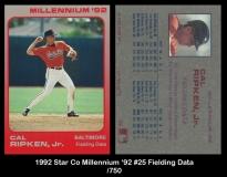 1992 Star Co Millennium '92 #25 Fielding Data