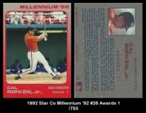 1992 Star Co Millennium '92 #26 Awards 1
