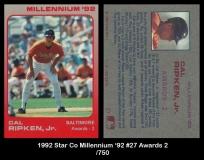 1992 Star Co Millennium '92 #27 Awards 2