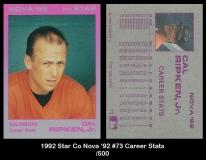 1992 Star Co Nova '92 #73 Career Stats