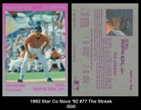 1992 Star Co Nova '92 #77 The Streak