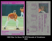 1992 Star Co Nova '92 #78 Decade of Greatness