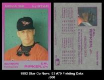 1992 Star Co Nova '92 #79 FIelding Data