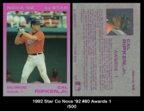 1992 Star Co Nova '92 #80 Awards 1