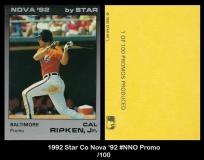 1992 Star Co Nova '92 #NNO Promo