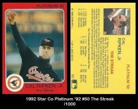 1992 Star Co Platinum '92 #50 The Streak