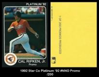 1992 Star Co Platinum '92 #NNO Promo