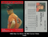 1992 Star Co Silver '92 #82 Career Stats