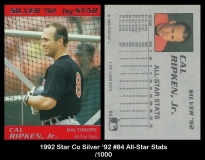 1992 Star Co Silver '92 #84 All-Star Stats