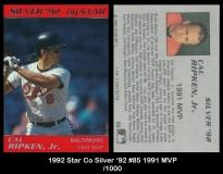 1992 Star Co Silver '92 #85 1991 MVP
