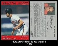 1992 Star Co Silver '92 #89 Awards 1