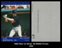 1992 Star Co Silver '92 #NNO Promo