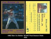 1992 Star Co Stellar '92 #47 Post Season Stats