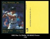 1992 Star Co Stellar '92 #NNO Promo