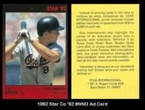 1992 Star Co '92 #NNO Ad Card
