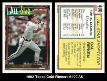 1992 Topps Gold Winners #400 AS