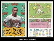 1992 Topps Kids #63