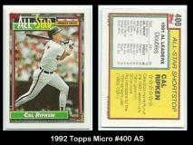 1992 Topps Micro #400 AS