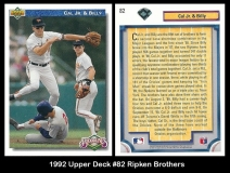 1992 Upper Deck #82 Ripken Brothers