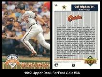 1992 Upper Deck FanFest Gold #36