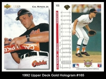 1992 Upper Deck Gold Hologram #165