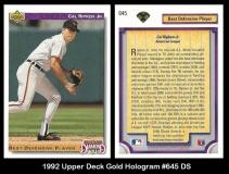1992 Upper Deck Gold Hologram #645 DS