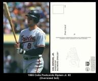 1993 Colla Postcards Ripken Jr. #2