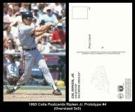 1993 Colla Postcards Ripken Jr. Prototype #4