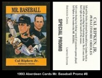1993 Aberdeen Cards Mr Baseball Promo #8