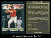 1993 Investors Journal #36 Blue Foil