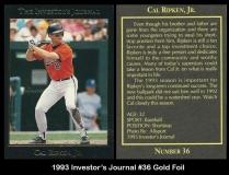 1993 Investors Journal #36 Gold Foil