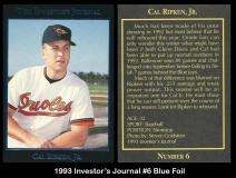 1993 Investors Journal #6 Blue Foil
