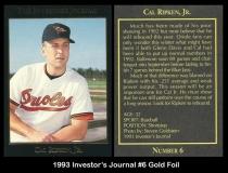 1993 Investors Journal #6 Gold Foil