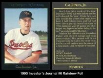 1993 Investors Journal #6 Rainbow Foil