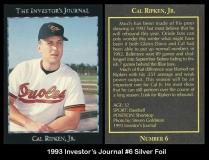 1993 Investors Journal #6 Silver Foil