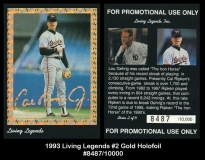 1993 Living Legends #2 Gold Holofoil