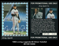 1993 Living Legends #2 Silver Holofoil