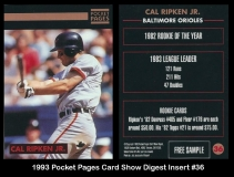 1993 Pocket Pages Card Show Digest Insert #36
