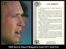 1993 Sports Report Magazine Insert #11 Gold Foil