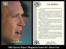 1993 Sports Report Magazine Insert #11 Silver Foil