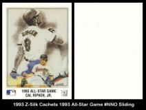 1993 Z-Silk Cachets 1993 All-Star Game #NNO Sliding