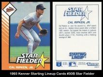 1993 Kenner Starting Lineup Cards #30B Star Fielder