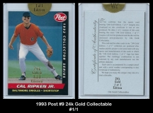 1993 Post #9 24k Gold Collectable