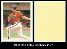 1993 Red Foley Stickers #122